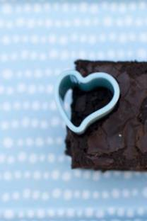 a warm chocholate brownie