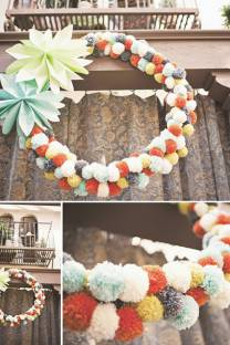reason to celebrate | pom wreath