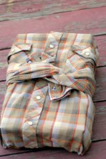 wrap it up | with a men's button up shirt