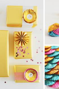 wrap it up | with cupcake foils