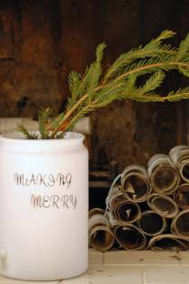 making merry painted bucket