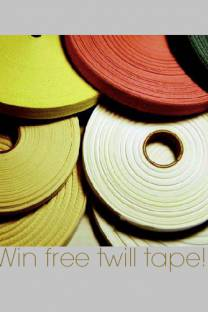 twill tape giveaway