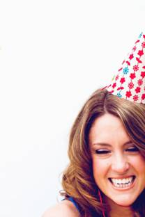 vintage fabric party hat