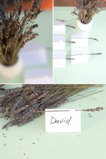 dried herb escort cards