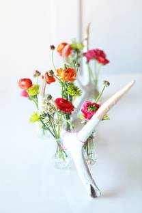 antler flower display