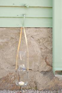 DIY cut glass lantern