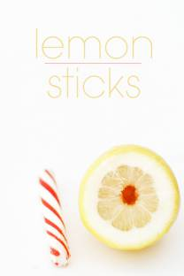 peppermint lemon sticks