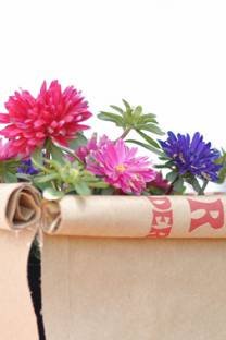 paper bag flower baskets