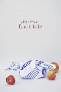 dish towel fruit tote
