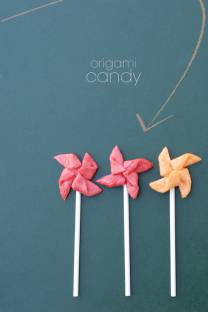 origami candy pops