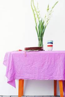 Vegetable dyed tablecloths