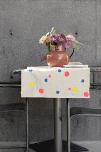 bright confetti table runner