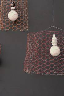 chicken wire pendants