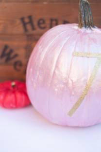 painted + numbered pumpkins