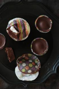 three step chocolate marshmallow cups