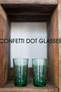 Temporary Confetti Dot Glasses