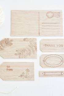 Wrap it Up: Wooden Gift Tags
