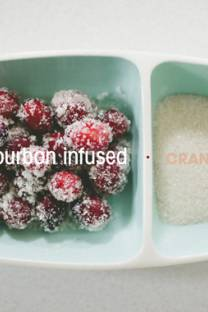 Bourbon Infused Sugar Cranberries