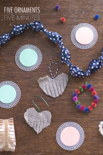 Five DIY Ornaments in Five Minutes