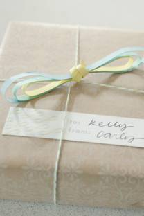 Infinity raindrop gift tags
