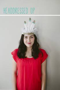 Feather Headdress Party Hat