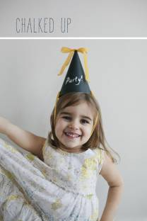 Chalk Board Party Hat