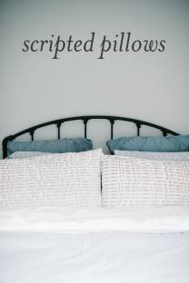 Sharpie Scripted Pillows