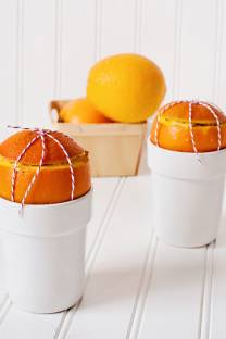 french toast baked in oranges