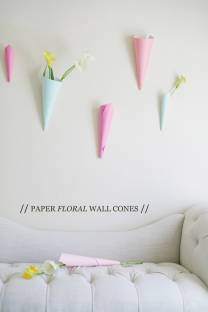 paper floral wall cones