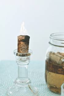 how to turn your corks into candles