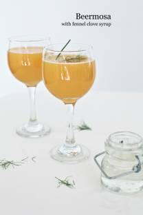 beermosa with fennel clove syrup