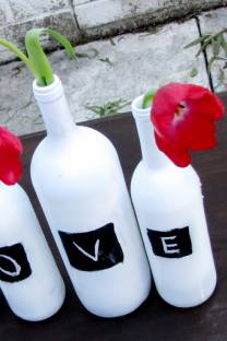 Black & White love- vases
