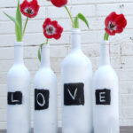 Valentine's day craft ideas chalk vases