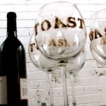 Typography etch wine glasses diy