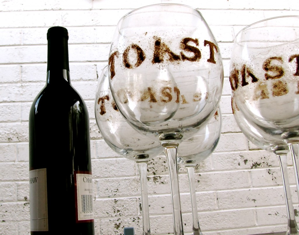 etch wine glasses diy