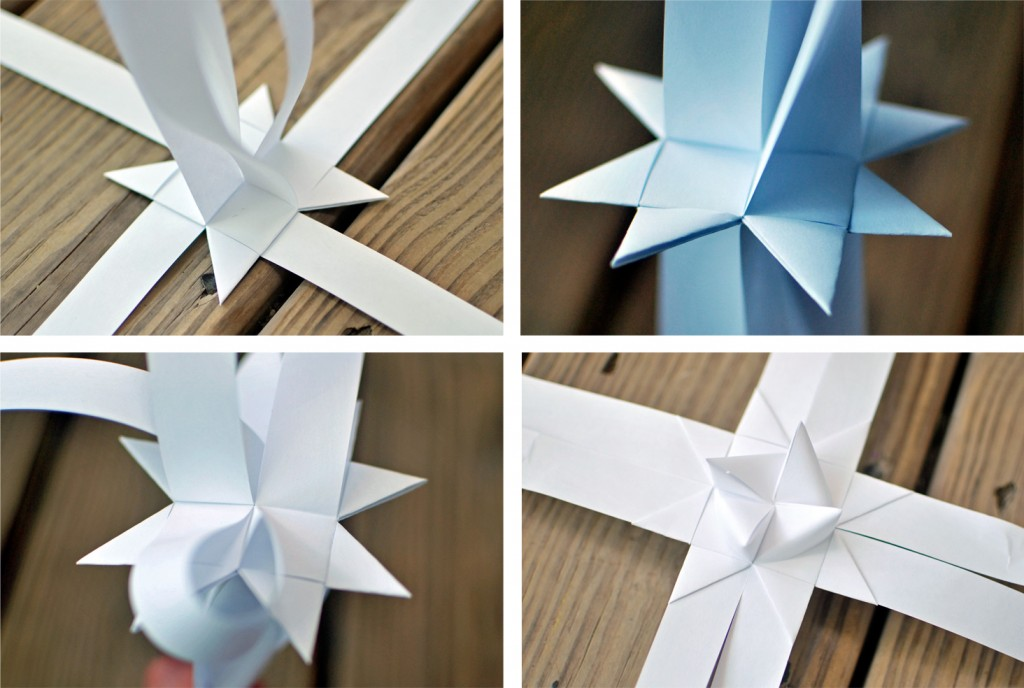 easy paper star step by step instructions