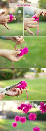 The easiest pom-pom poof tutorial