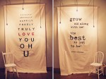 Recreate project- large word banners