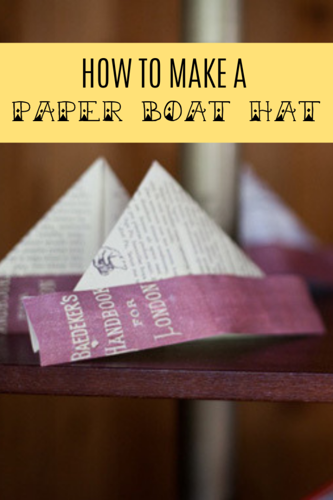 how to make a paper boat hat