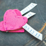 Stamped and stitched hearts