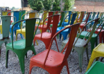reason to celebrate | colorful chairs