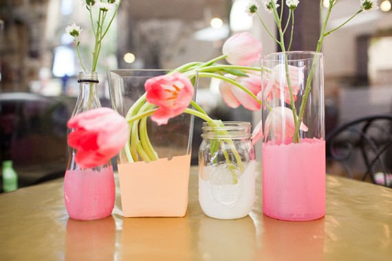watercolored vases | a subtle revelry