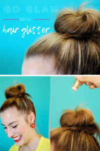Go glam with hair glitter