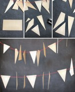 geometric wood garland