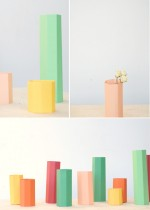 Polygon paper vases