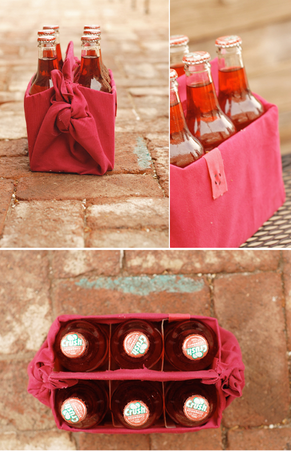 Reusable Fabric Drink Carrier | Fall DIY Picnic Food Ideas And Crafts To Do This Weekend