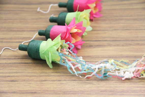 flower party poppers  u2022 a subtle revelry