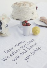 aged cloth message for mom