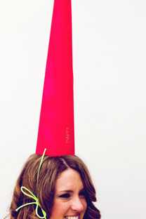 tall kraft cone party hat