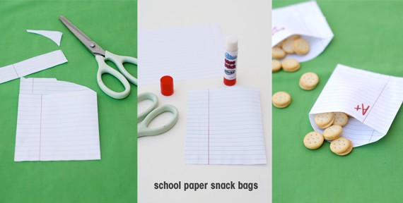 School Paper Snack Bags A Subtle Revelry